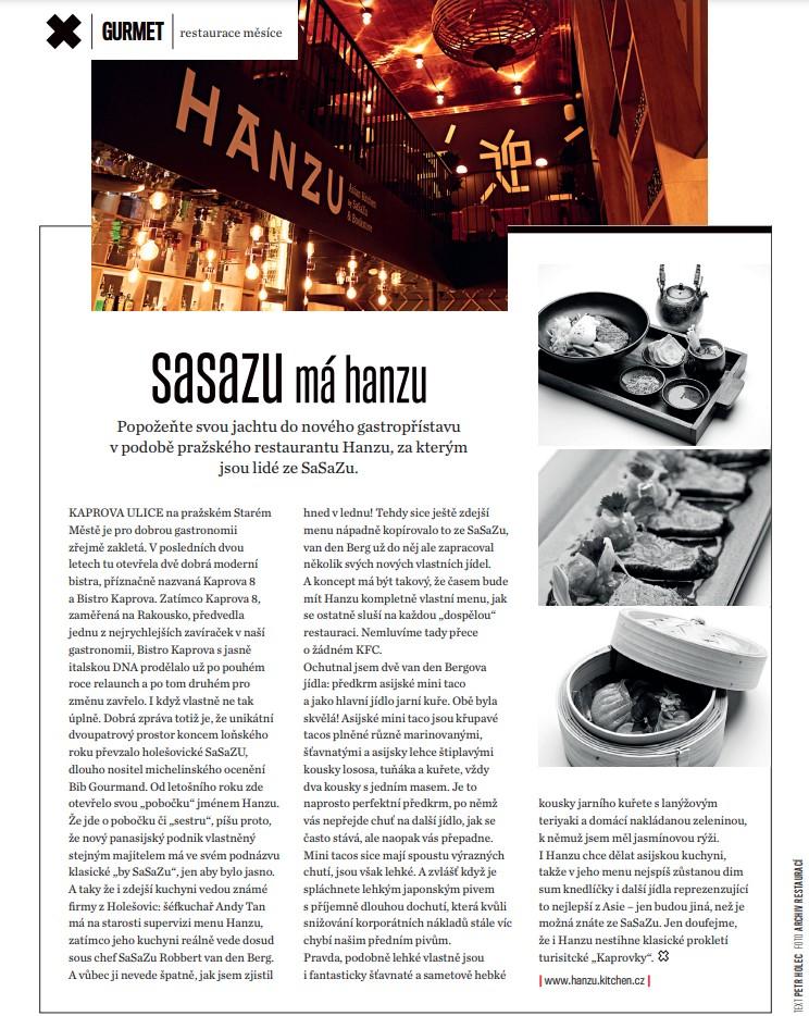 Článek oHanza restauraci