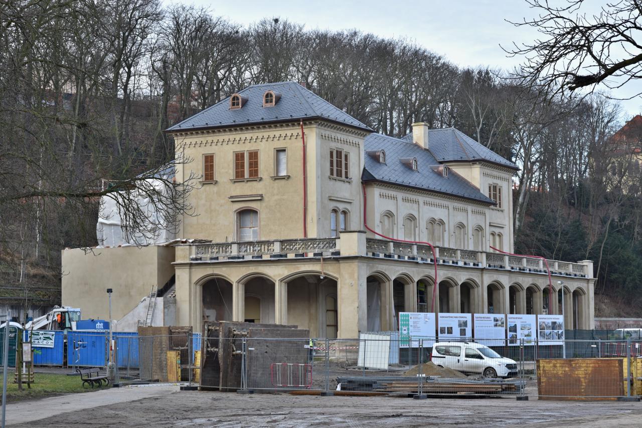 Rekonstrukce Šlechtovy restaurace ve Stromovce (únor 2020)