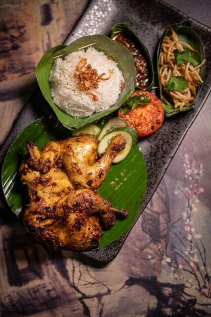 asijské kuře srýží