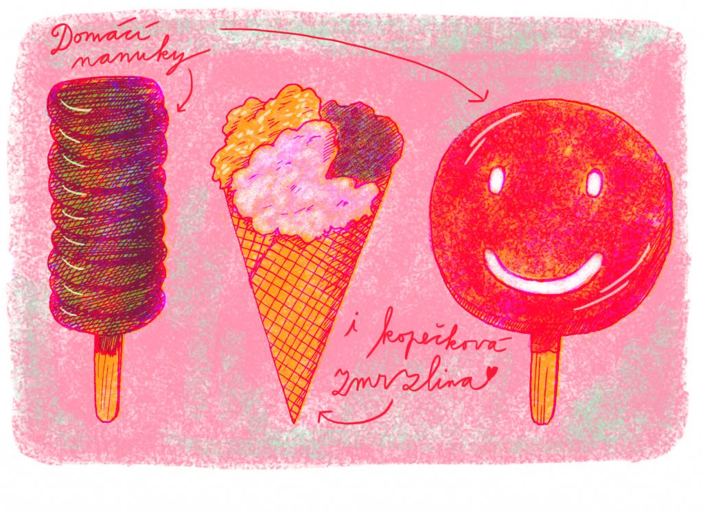 malované zmrzliny